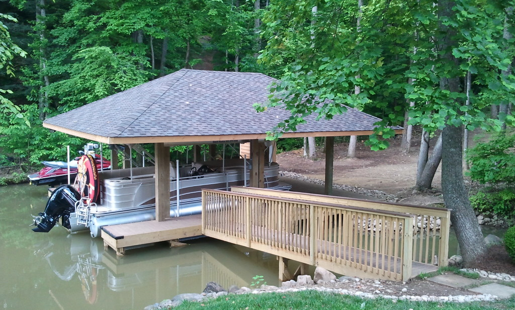 Hip Roof Dock Construction Knoxville Lenoir City Fort
